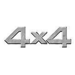 4X4 3D LOGÓ chrom