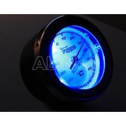 Belső hőmérő LED-es chrom design
